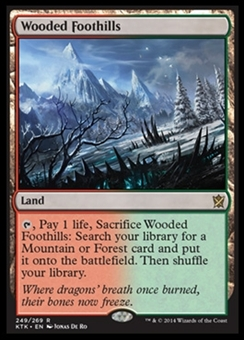 Magic the Gathering Khans of Tarkir Single Wooded Foothills Foil NEAR MINT (NM)
