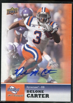 2011 Upper Deck Sweet Spot Autographs #55 Delone Carter RC