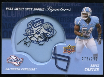 2011 Upper Deck Sweet Spot Rookie Signatures Variations #RSBC Bruce Carter Autograph /299