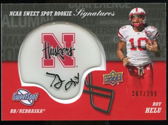 2011 Upper Deck Sweet Spot Rookie Signatures Variations #RSHE Roy Helu Autograph /299