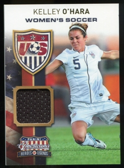 2012 Panini Americana Heroes and Legends US Women's Soccer Materials #13 Kelley O'Hara /199