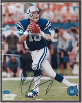Peyton Manning Autographed Indianapolis Colts 8x10 Photo (Mounted Memories)