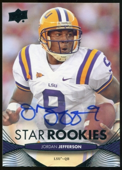 2012 Upper Deck Rookie Autographs #187 Jordan Jefferson Autograph