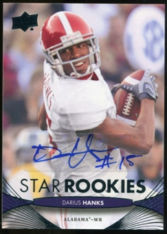 2012 Upper Deck Rookie Autographs #196 Darius Hanks Autograph