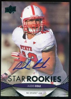 2012 Upper Deck Rookie Autographs #57 Audie Cole Autograph
