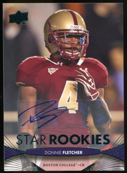 2012 Upper Deck Rookie Autographs #173 Donnie Fletcher Autograph