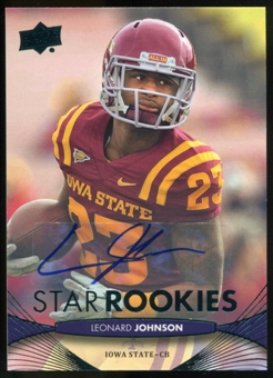 2012 Upper Deck Rookie Autographs #234 Leonard Johnson Autograph