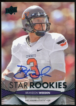 2012 Upper Deck Rookie Autographs #62 Brandon Weeden Autograph