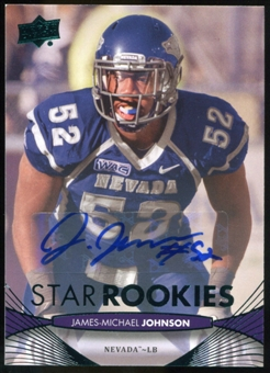 2012 Upper Deck Rookie Autographs #130 James-Michael Johnson Autograph