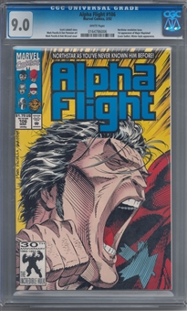Alpha Flight #106 CGC 9.0 (W) *0164786006* (2nd Print)