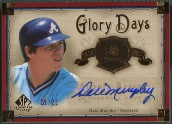 2005 SP Legendary Cuts #DM Dale Murphy Glory Days Auto #21/25