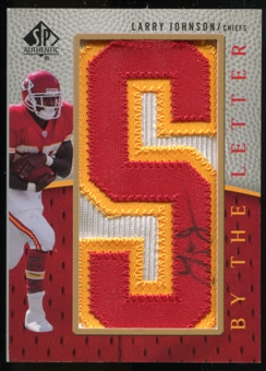 2007 Upper Deck SP Authentic By The Letter Autographs #BTLLJ Larry Johnson Autograph /20