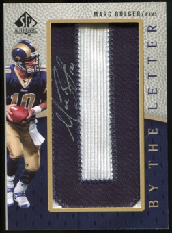 2007 Upper Deck SP Authentic By The Letter Autographs #BTLMB Marc Bulger Autograph /25