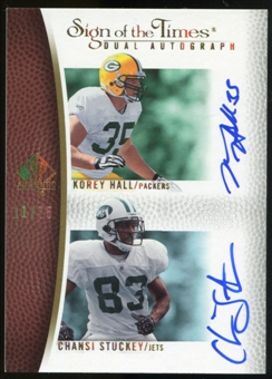 2007 Upper Deck SP Authentic Sign of the Times Duals #HS Korey Hall/Chansi Stuckey Autograph /75