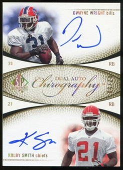 2007 Upper Deck SP Authentic Chirography Duals #WS Dwayne Wright/Kolby Smith Autograph