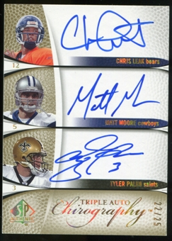 2007 Upper Deck SP Authentic Chirography Triples #LMP Chris Leak/Matt Moore/Tyler Palko Autograph /25