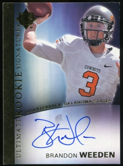 2012 Upper Deck Ultimate Collection Rookie Autographs #2 Brandon Weeden Autograph