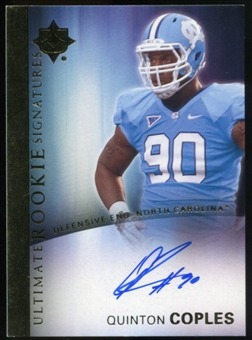 2012 Upper Deck Ultimate Collection Rookie Autographs #18 Quinton Coples Autograph