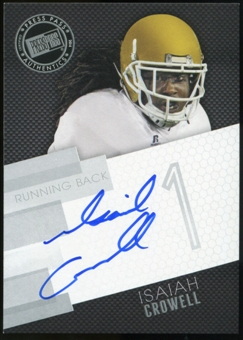 2014 Press Pass Autographs Silver #IC Isaiah Crowell Autograph