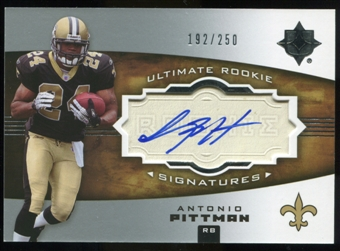 2007 Upper Deck Ultimate Collection #129 Antonio Pittman RC Autograph /250