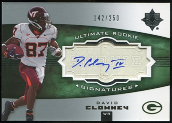 2007 Upper Deck Ultimate Collection #138 David Clowney RC Autograph /250