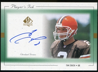 1999 Upper Deck SP Authentic Player's Ink Green #TCA Tim Couch Autograph