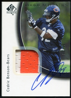 2005 Upper Deck SP Authentic #251 Cedric Benson RC Jersey Autograph /99