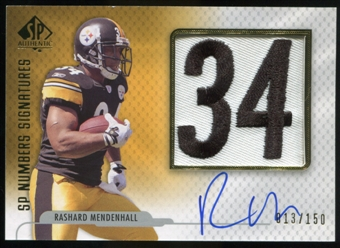2008 Upper Deck SP Authentic SP Numbers Signatures #NPRM Rashard Mendenhall Autograph /150