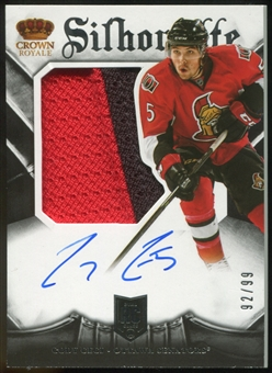 2013-14 Panini Crown Royale #199 Cody Ceci RC Jersey Patch Autograph 92/99 (inserted in 13-14 Anthology)