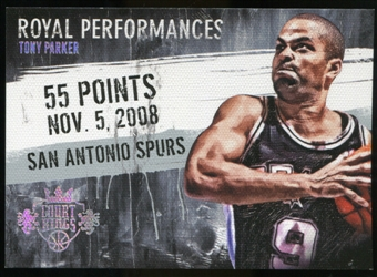 2013/14 Panini Court Kings Royal Performances Platinum #15 Tony Parker 1/1