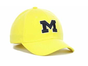 Michigan Wolverines New Era 39Thirty Team Classic Yellow Gold Flex Fit Hat (Adult M/L)