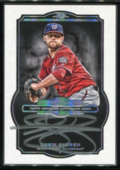 2013 Topps Museum Collection Framed Museum Collection Autographs Black #DS Drew Storen 1/5
