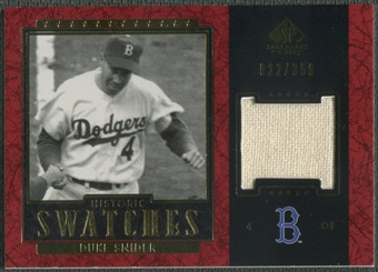 2003 SP Legendary Cuts #DS Duke Snider Historic Swatches Jersey #022/350