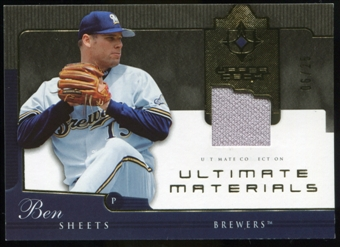 2005 Upper Deck Ultimate Collection Materials #BS Ben Sheets Jersey /25