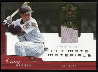 2005 Upper Deck Ultimate Collection Materials #CB Craig Biggio Jersey /25