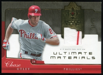 2005 Upper Deck Ultimate Collection Materials #CU Chase Utley Jersey /25