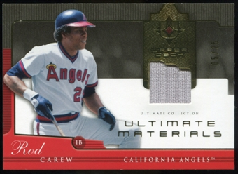 2005 Upper Deck Ultimate Collection Materials #CW Rod Carew Jersey /25