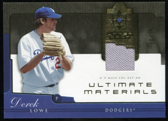2005 Upper Deck Ultimate Collection Materials #DL Derek Lowe Jersey /25