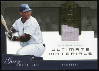 2005 Upper Deck Ultimate Collection Materials #GS Gary Sheffield Jersey /25