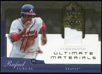 2005 Upper Deck Ultimate Collection Materials #RF Rafael Furcal Jersey /25