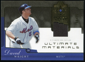 2005 Upper Deck Ultimate Collection Materials #WR David Wright Jersey /25