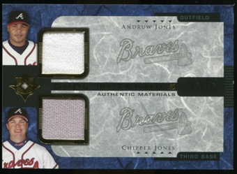 2005 Upper Deck Ultimate Collection Dual Materials #AC Andruw Jones/Chipper Jones Jersey /15