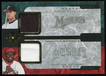 2005 Upper Deck Ultimate Collection Dual Materials #CG Miguel Cabrera/Vladimir Guerrero Jersey /15