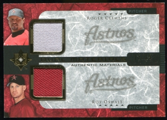 2005 Upper Deck Ultimate Collection Dual Materials #CO Roger Clemens/Roy Oswalt Jersey /15