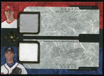 2005 Upper Deck Ultimate Collection Dual Materials #MH Mark Mulder/Tim Hudson Jersey /15