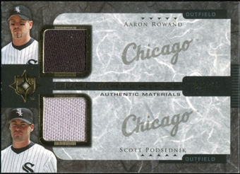 2005 Upper Deck Ultimate Collection Dual Materials #RP Aaron Rowand/Scott Podsednik Jersey 9/15