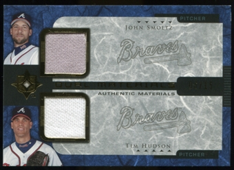 2005 Upper Deck Ultimate Collection Dual Materials #SH John Smoltz/Tim Hudson Jersey /15
