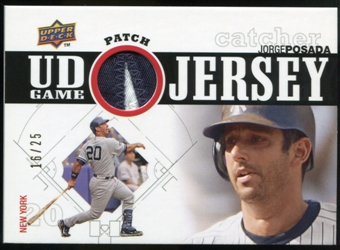 2010 Upper Deck UD Game Patch #PO Jorge Posada 16/25
