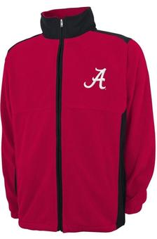 Alabama Crimson Tide Genuine Stuff Maroon Full Zip Polar Fleece Jacket (Adult L)