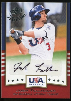 2008 Upper Deck Timeline Team USA Signatures #JF Josh Fellhauer Autograph